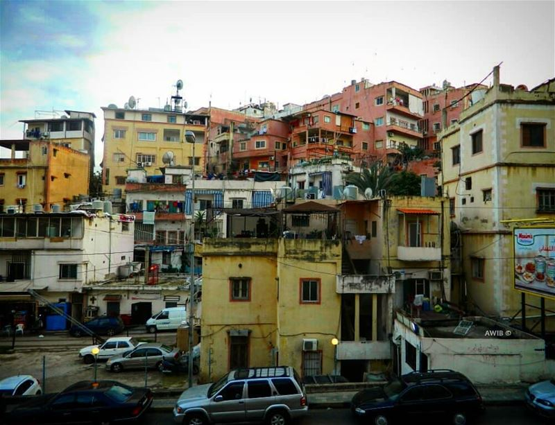 old houses colors day beautiful outdoors noperson travel tourism ... (Achrafieh, Lebanon)