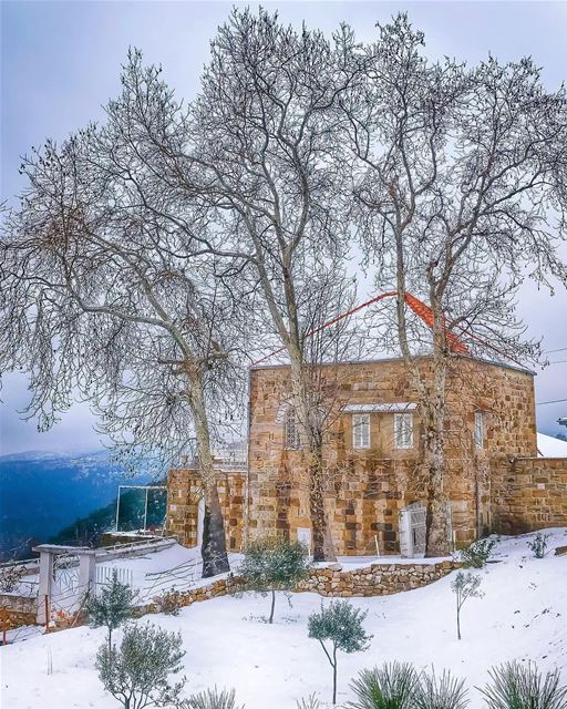 May your week ahead be as pure & hopeful as snow ❄️May your days with... (Ehden, Lebanon)