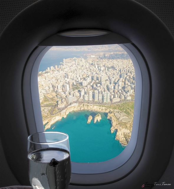 Raise your glass to ...... !!! lebanon beirut middleeastairlines ... (Lebanon)