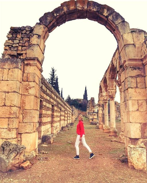 Good morning from Anjar 🙋♀️Every time I think I have discovered my... (`Anjar, Béqaa, Lebanon)
