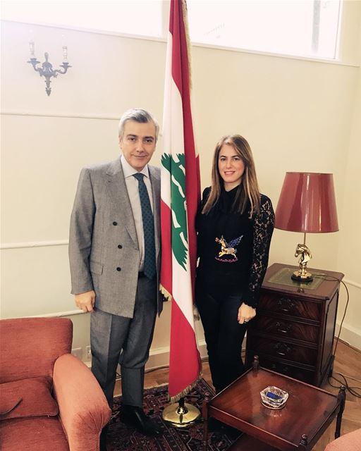 Meeting with the ambassador of Lebanon Mr Rami Mortada to discuss my Art...