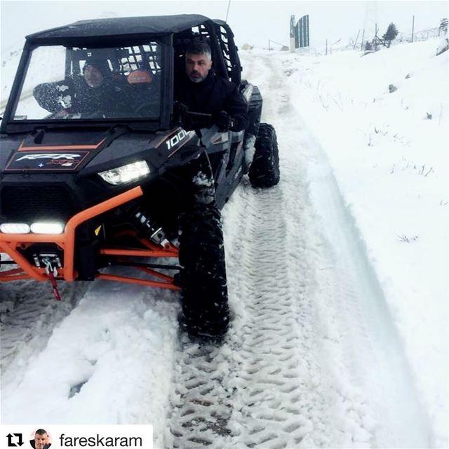Repost @fareskaram ・・・... الدفا عفا 🌨☃️ Snow Lebanon Mountain ...