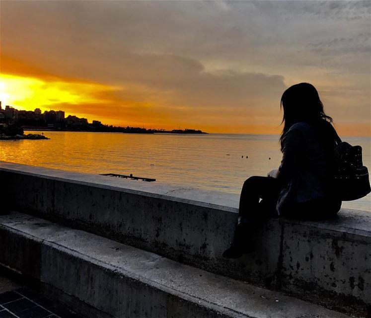Watch it till the end.💆☀️😍 sunset sunsetlovers sunsetbeach ... (جونية - Jounieh)
