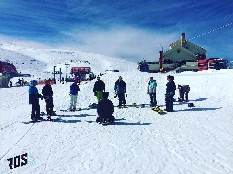 Snowboard 101 👨🏻💻, thank you @faridehrestaurant crew for an awesome... (Mzaar Ski Resort Kfardebian)