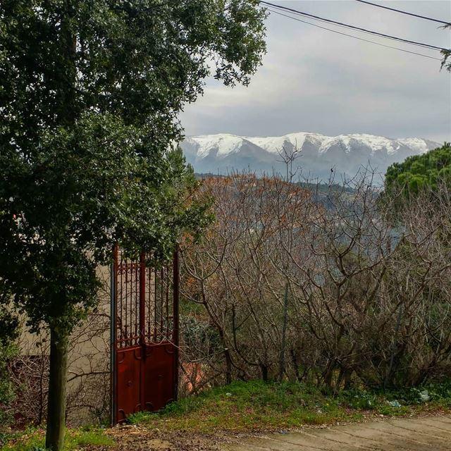 Still standing. olddoor wroughtiron shortcut alleys lebanesesights ... (Dayr Al Qamar, Mont-Liban, Lebanon)