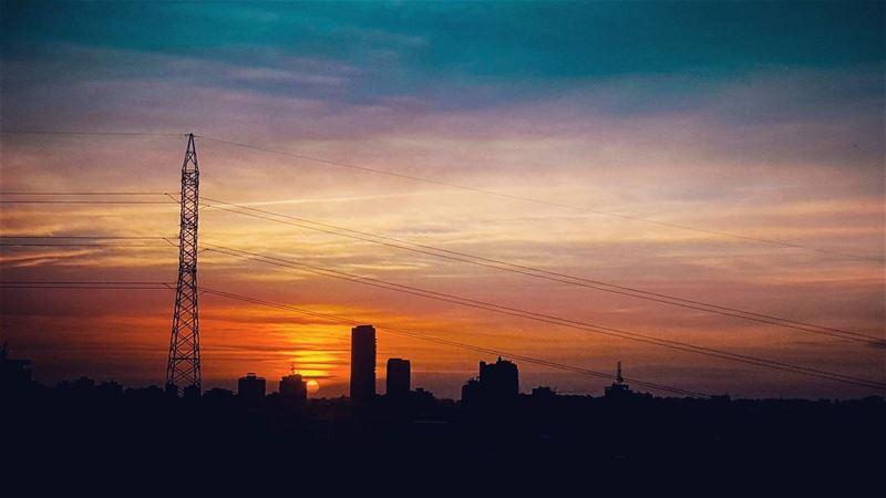 lebanese lebanon lebanon_hdr beirut sun sunset colors sky clouds ...