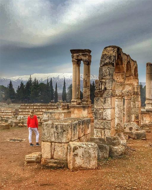 Beauty is simply reality seen with the eyes of love 💚... (`Anjar, Béqaa, Lebanon)