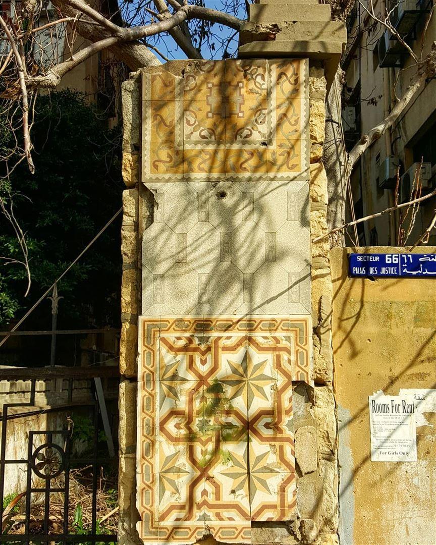 Broken things hiddenbeirut ........... Lebanon Beirut tiles ...