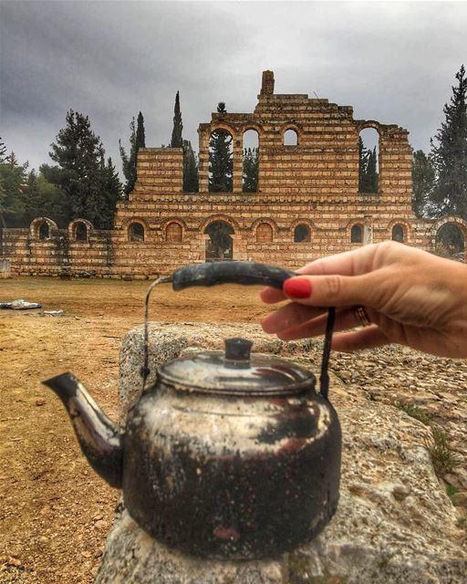 Anyone for Tea ?...☕️🙋♀️ lebanesetraditions ... teawithaview ...... (`Anjar, Béqaa, Lebanon)