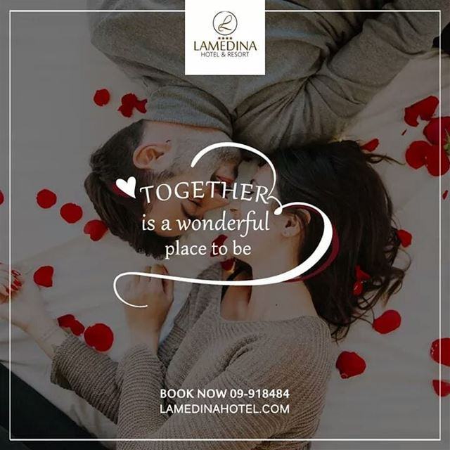 For room booking inquiries, call us on 09-918484 LAMEDINAHOTEL valentine... (Joünié)
