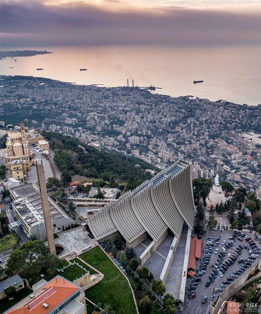 Holy Land... lebanon jounieh dji drones quadcopter aerial ... (Harîssa, Mont-Liban, Lebanon)