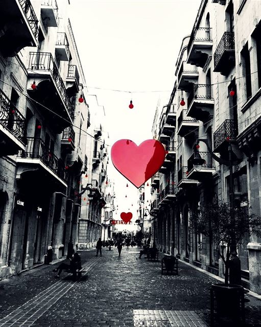Well I don't believe in Valentine's Day! I mean why to show love for one... (Downtown Beirut)