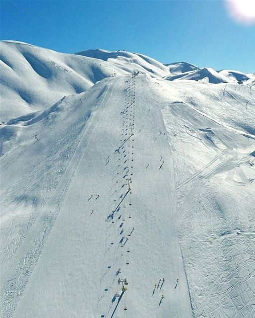 When everything feels like an uphill struggle, Just think of the view from... (Mzaar Ski Resort Kfardebian)