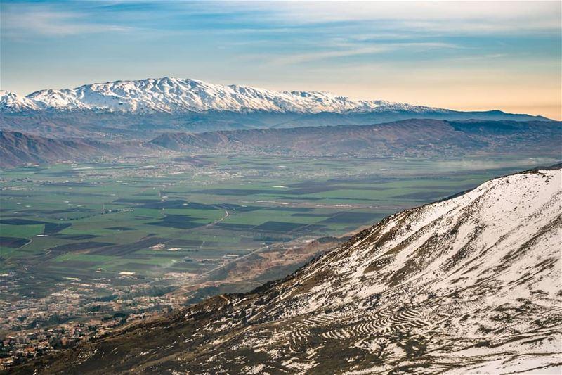 From Knaisseh, through the green Bekaa plain, reaching Mount Hermon ...