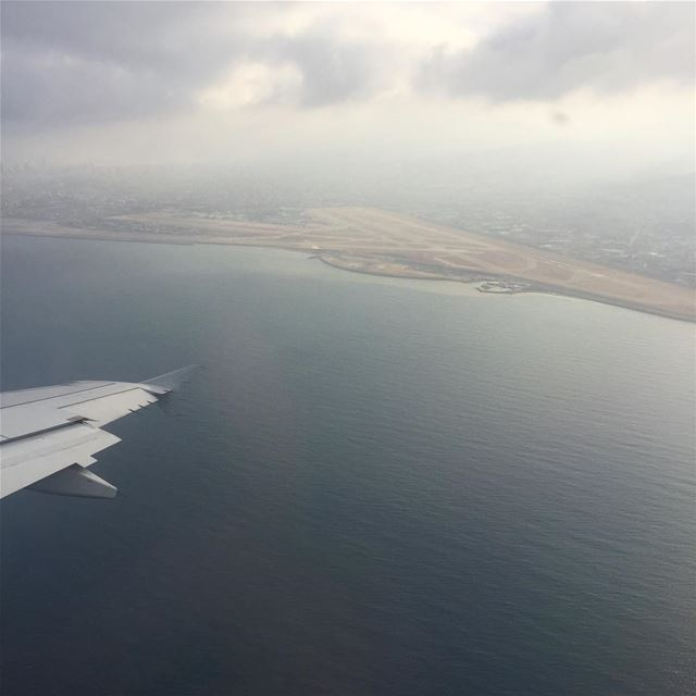 takeoff wings lebanon airport cloudy sea ig_photooftheday ...