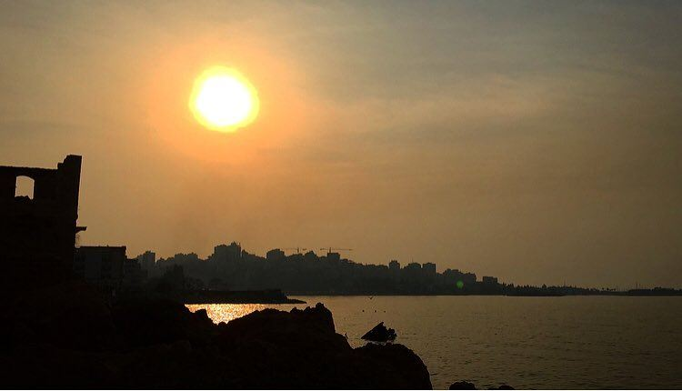It's ready for a magical sunset 💛 beautiful view sun sea jounieh ... (جونية - Jounieh)