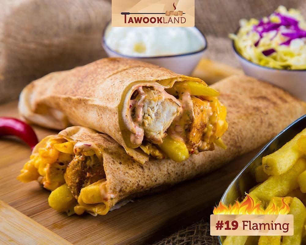 @tawookland - 19 Flaming Tawook: Fresh chicken tawook, garlic, flaming... (Tawookland)