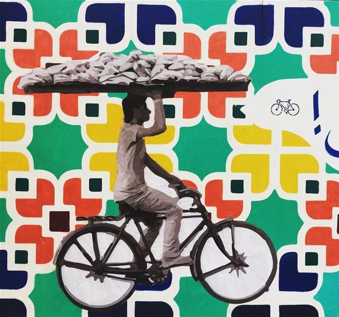 Keep riding streetphotography bycicle streetart graffiti citylife ... (Lebanon Beirut Ashrafieh Geitawi)
