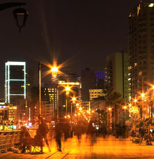 Beirut City Lights cityscape night photography lebanon_hdr... (Ain El Mreisse, Beyrouth, Lebanon)