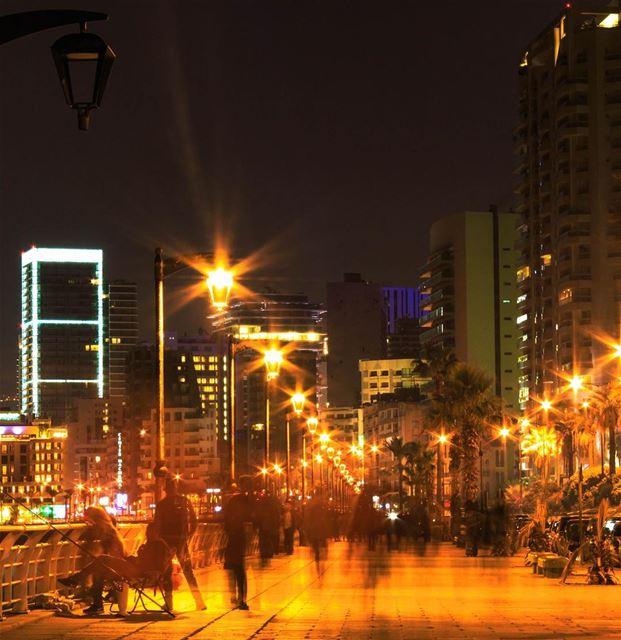 Beirut City Lights cityscape night photography lebanon_hdr... (Ain El Mreisse, Beyrouth, Lebanon)