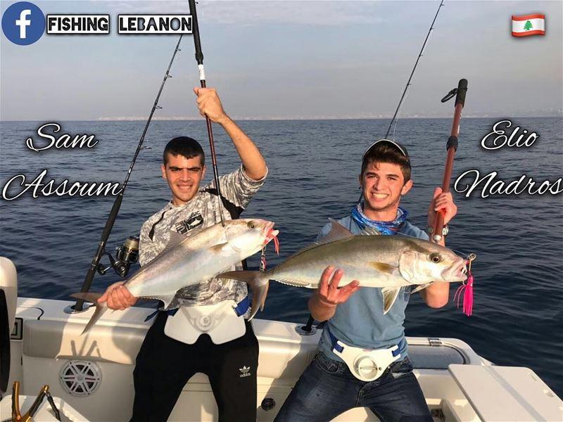 @elio.nadros & @sam.assoum @fishinglebanon - @instagramfishing @jiggingworl (Tripoli, Lebanon)