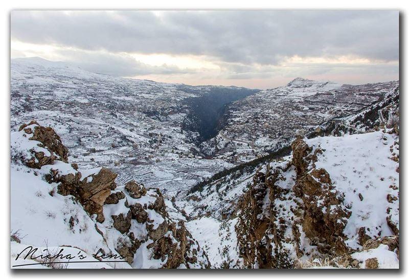 Quadisha valley and the snow.. thebestinlebanon mycountrylebanon ...