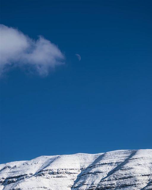 Ascension 🌙 rookietographer ...... snowy mountaintop ... (Faraya, Mont-Liban, Lebanon)