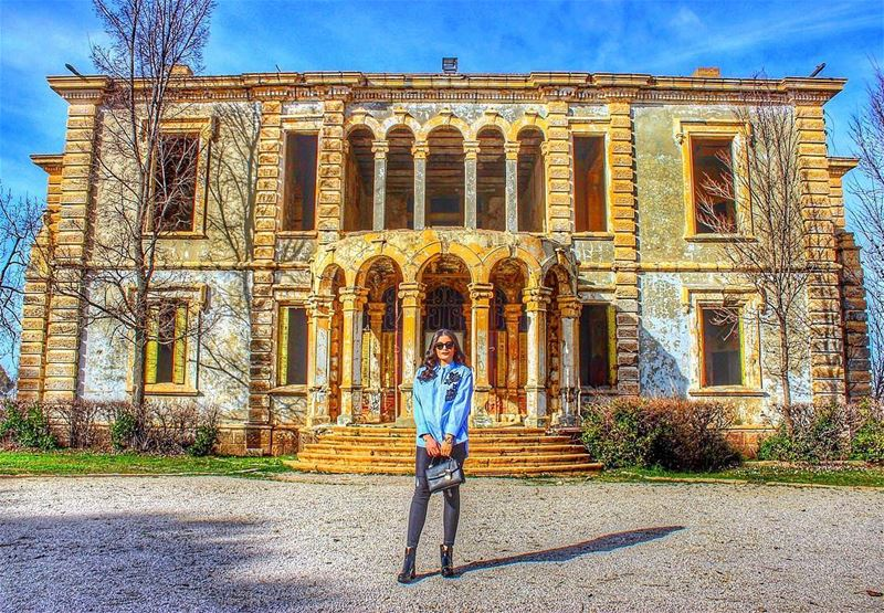 Old is gold 💫🏰 Oldarchitecture Vintage Abandoned Castle Sawfar... (Donna Maria Sursock Gardens)