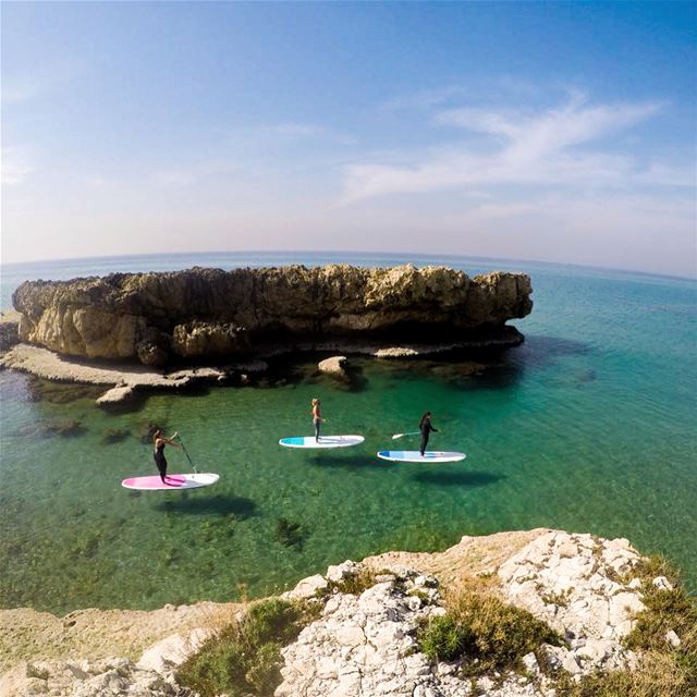 Cruising around Byblos coast!... sup standup paddle sea nature ...