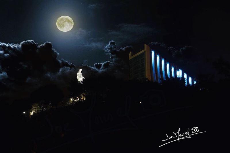night light moonlight moon church lebanon keserwan @livelovejounieh...