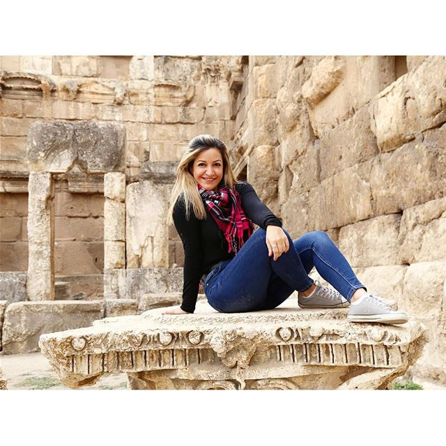 """A lot of people are afraid to say what they want. That's why they don't... (Baalbek , Roman Temple , Lebanon)"
