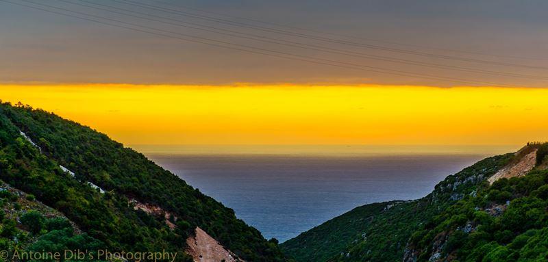 Sunset over Eddeh, Batroun