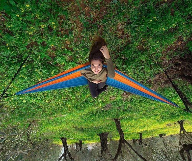 A hammock & the smell of rain HikeMen3alli2 by @aimeedac ........ (Kafr Mattá, Mont-Liban, Lebanon)