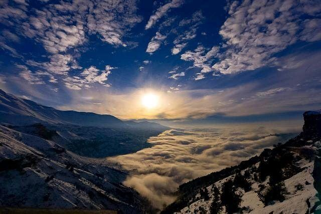 Rise & Shine Baby... Just Rise & Shine ❄☉❄ What a beautiful sunrise shot... (Bcharré, Liban-Nord, Lebanon)
