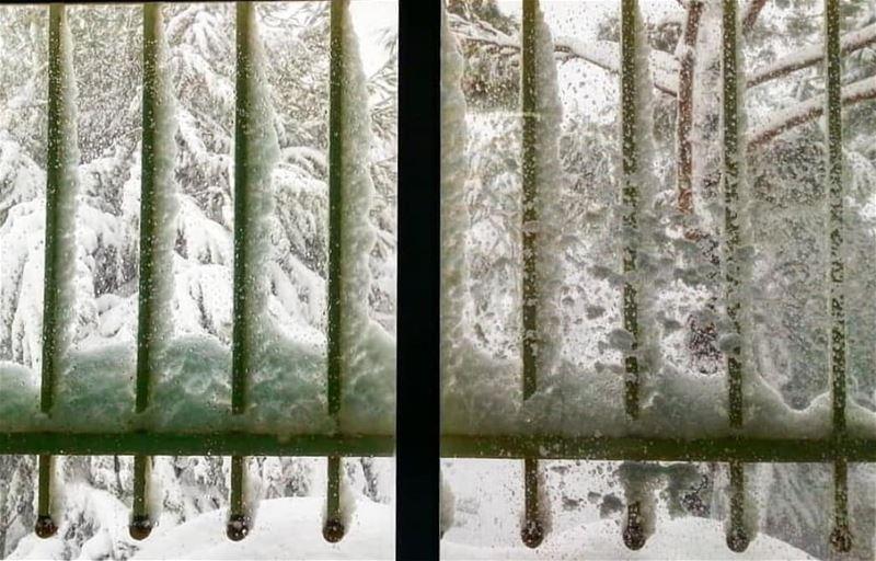 حتى مشاعرنا نزل فوقها الثلج وتجمدت في صدورنا وما تكلمنا...... قهوه تلج ت