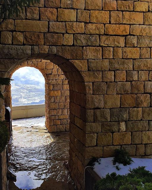 Today, I choose Serenity ✨.. senerity ehden lebanon snow old ... (Ehden, Lebanon)