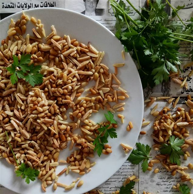Pinenuts and almonds, a favourite garnish in many middle eastern cuisine...