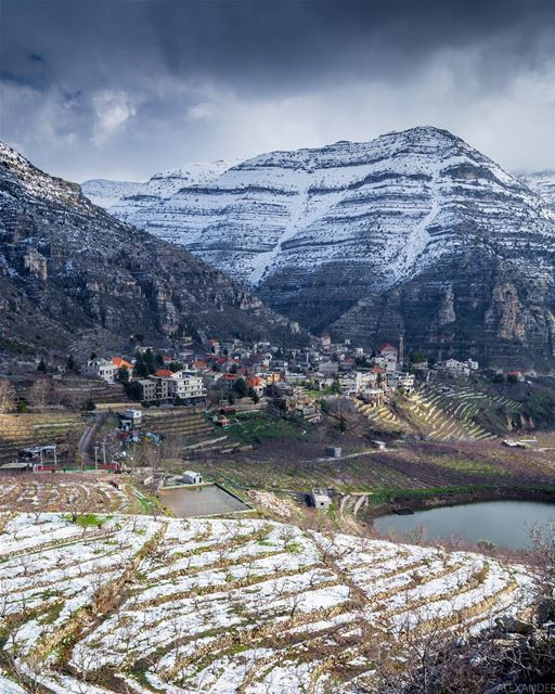 The calm before the storm | Akoura, Lebanon liveloveakoura. storm snow... (Akoura, Mont-Liban, Lebanon)
