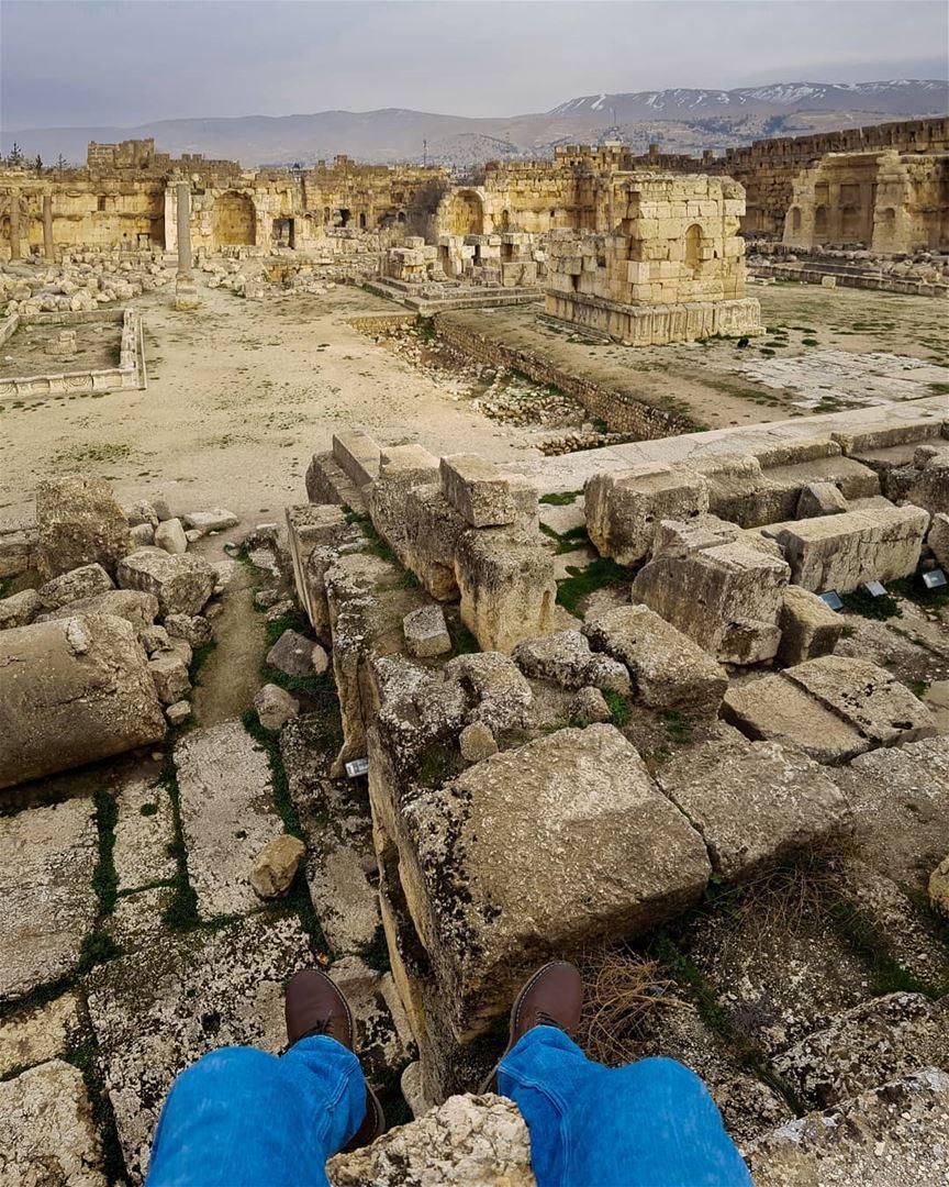 Ruins.🏛 rookietographer ...... romanreigns roman ruin ... (Baalbek, Lebanon)