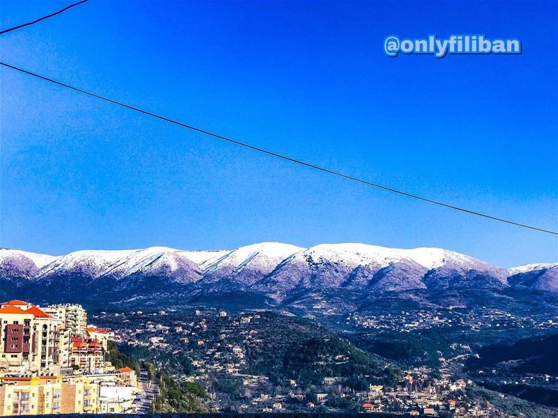 📸 Picture taken and edited by @onlyfiliban❄️🌨☃️⛄️🗻🗻🗻... (Jdaïdet Ech Choûf, Mont-Liban, Lebanon)