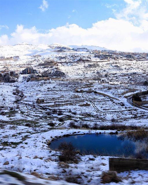 Hello from Lebanon! Yes, it snows here ❄️ (Faraya, Mont-Liban, Lebanon)