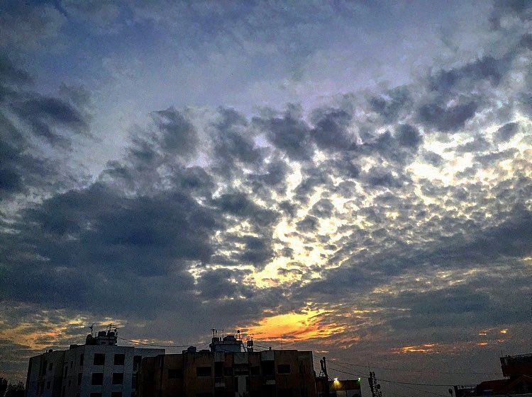 """Don't forget:Beautiful sunsetsneed cloudy skies.""– Paulo Coelho ☁️🧡... (Beirut, Lebanon)"