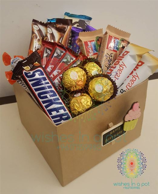 One way to say happybirthday is chocolate way ! T: 71159985 SnackBox...