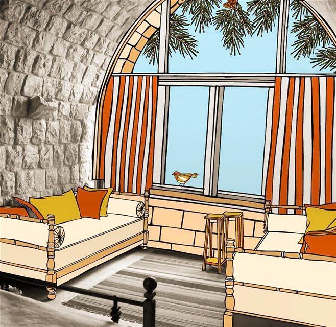 Fairytale weekends happen in Bkerzay! Wonderful illustration by Yasmine... (Bkerzay)