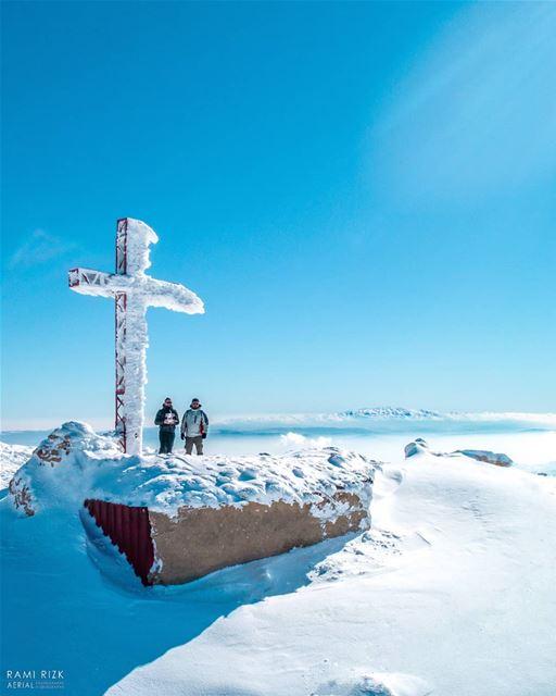 Serenity At The Top ❄️... mzaar kfardebian lebanon dji drones ... (Mzaar Kfardebian)