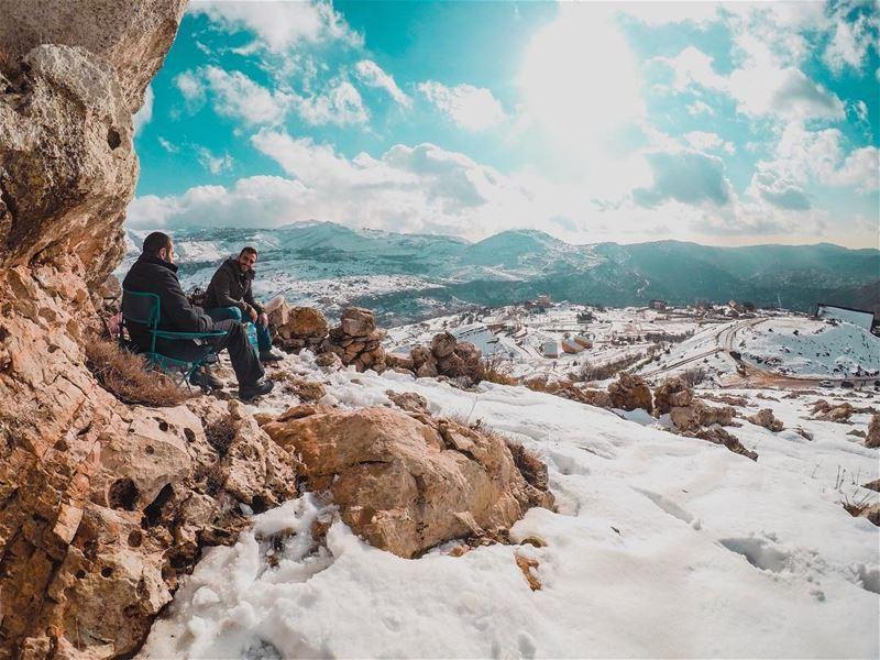 ☀️.......... lebanon faraya snow mountains sunnyday hiking... (Faraya, Mont-Liban, Lebanon)
