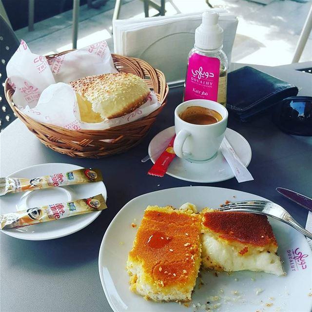 Morning ☕🍽️ instafood fresh breakfast morning knefeh knefe sun ...