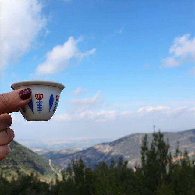 hotcoffee فنجان_قهوة bluesky lebanese_nature lebanesemountains ...