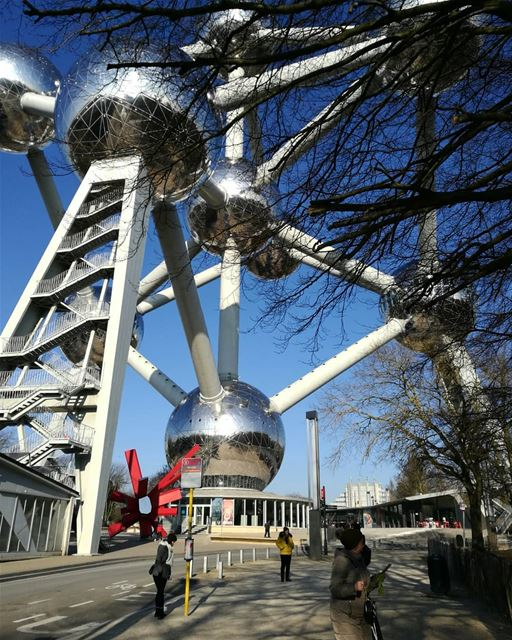 The Atomium - ichalhoub in Brussels Belgium shooting with a mobile...