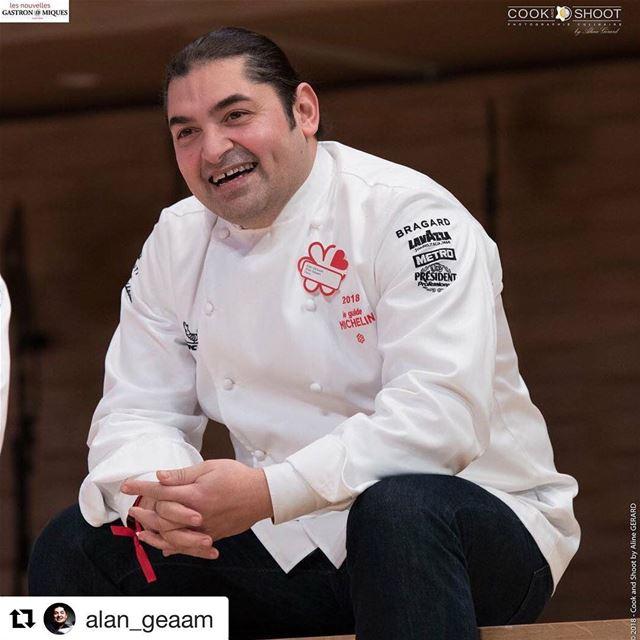 🇱🇧🇫🇷 O chef de cozinha libanês Alan Geaam, residente na França, é um... (Paris, France)